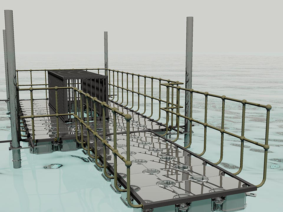 Drawings pump platform with walkway 6
