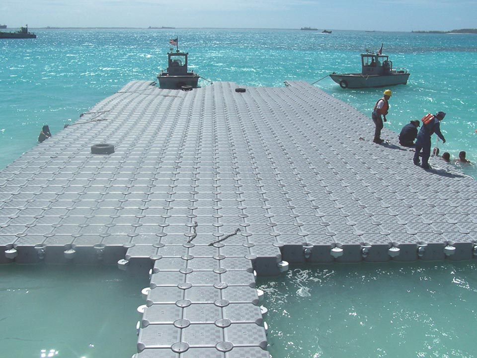 Large dock and staging area created using dockpro 3